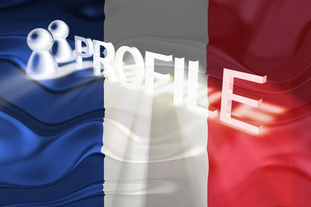 Flag of France, national country symbol illustration wavy internet information profile Stock Illustration - 6645866