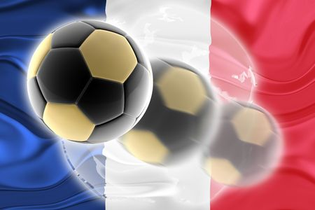 Flag of France, national country symbol illustration wavy sports soccer football org organization website Stock Illustration - 6645865