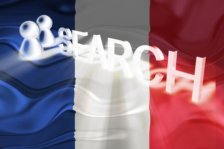 Flag of France, national country symbol illustration wavy internet search technology Stock Illustration - 6646123