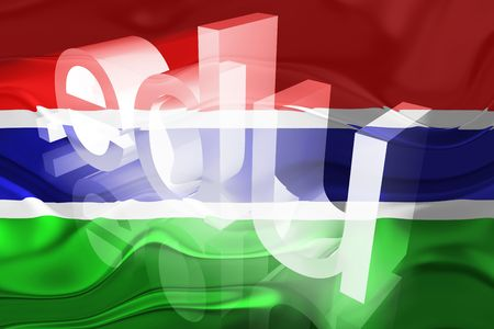 edu: Flag of Gambia, national country symbol illustration wavy edu education website