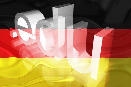 edu: Flag of Germany, national country symbol illustration wavy edu education website