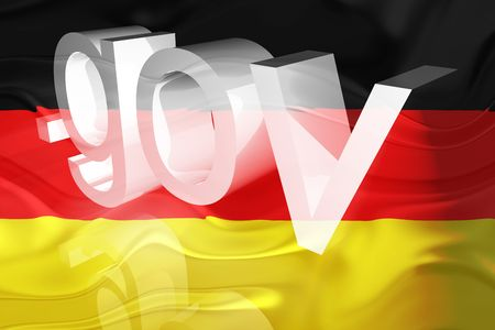 gov: Flag of Germany, national country symbol illustration wavy gov government website
