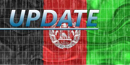 breaking wave: News information splash Flag of Afghanistan, national country symbol illustration wavy