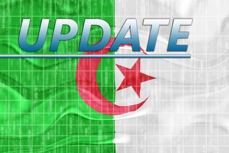 News information splash Flag of Algeria, national country symbol illustration wavy Stock Illustration - 6646079