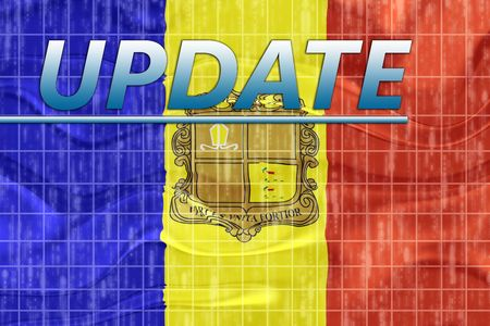 News information splash Flag of Andorra, national country symbol illustration wavy illustration