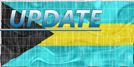 News information splash Flag of Bahamas, national country symbol illustration wavy Stock Illustration - 6646007