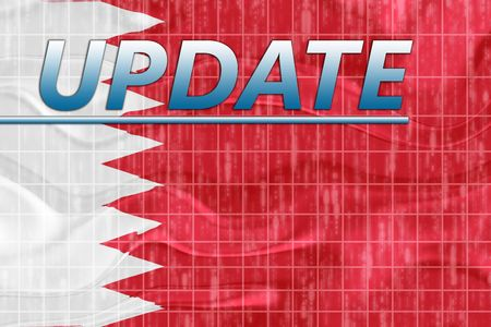 newsflash: News information splash Flag of Bahrain, national country symbol illustration wavy