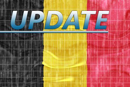 News information splash Flag of Belgium, national symbol illustration clipart wavy Stock Illustration - 6645990