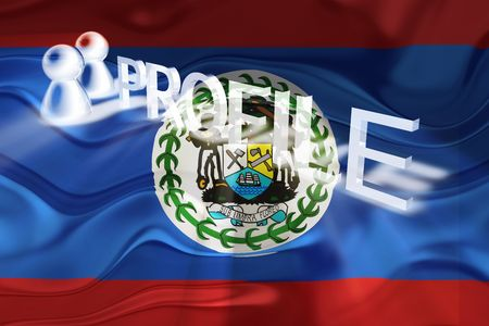 Flag of Belize, national country symbol illustration wavy internet information profile illustration