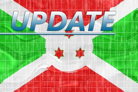 News information splash Flag of Burundi, national country symbol illustration wavy Stock Illustration - 6646088