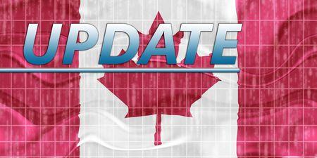 News information splash Flag of Canada, national country symbol illustration wavy Stock Illustration - 6645919