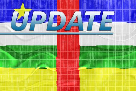 News information splash Flag of Central African Republic , national country symbol illustration wavy Stock Illustration - 6646046