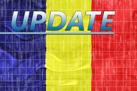 News information splash Flag of Chad, national country symbol illustration wavy Stock Illustration - 6645977