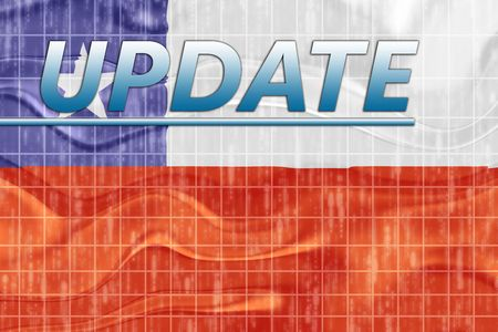 News information splash Flag of Chile, national symbol illustration clipart wavy Stock Illustration - 6645999