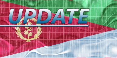 eritrea: News information splash Flag of Eritrea, national country symbol illustration wavy