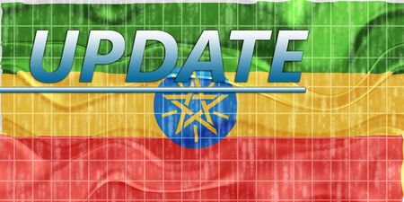 newsflash: News information splash Flag of Ethiopia, national country symbol illustration wavy