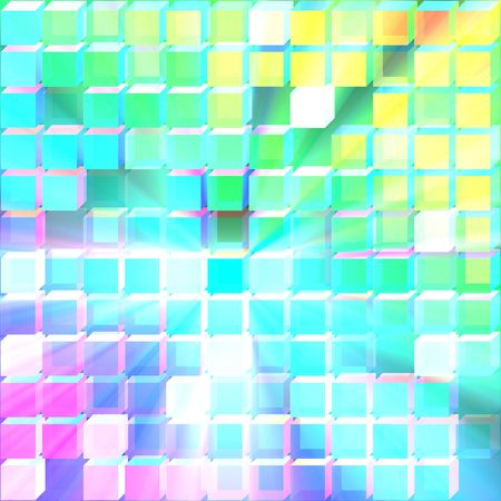 3d glass translucent cubes abstract background design pattern glowing light photo