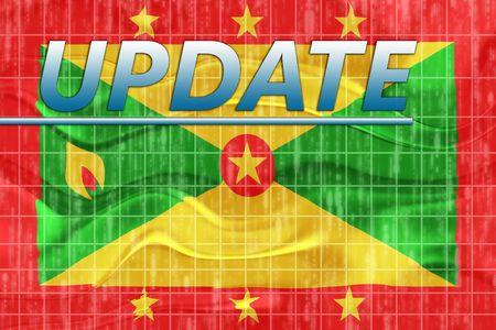 breaking wave: News information splash Flag of Grenada, national country symbol illustration wavy