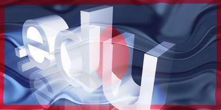 edu: Flag of Guam, national country symbol illustration wavy edu education website
