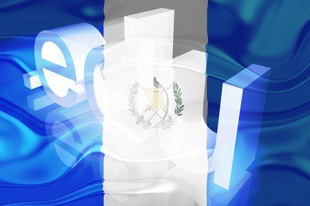Flag of Guatemala, national country symbol illustration wavy edu education website illustration