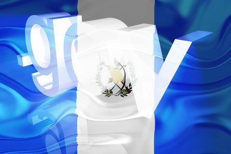 gov: Flag of Guatemala, national country symbol illustration wavy gov government website