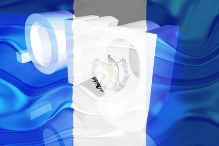 Flag of Guatemala, national country symbol illustration wavy org organization website illustration