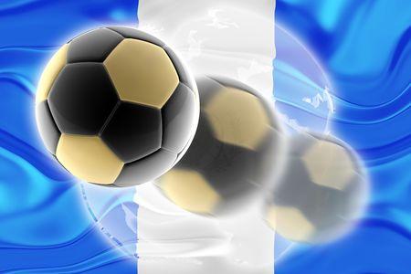 Flag of Guatemala, national country symbol illustration wavy sports soccer football org organization website illustration