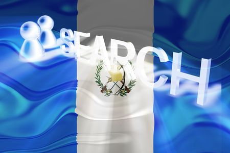 Flag of Guatemala, national country symbol illustration wavy internet search technology illustration
