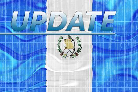 News information splash Flag of Guatemala, national country symbol illustration wavy illustration