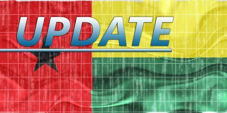 News information splash Flag of Guinea Bissau, national country symbol illustration wavy Stock Illustration - 6646003