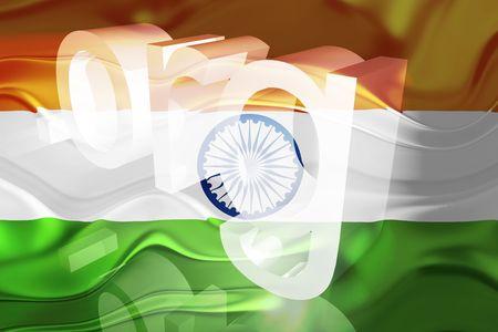 Flag of India, national country symbol illustration wavy org organization website Stock Illustration - 6646376
