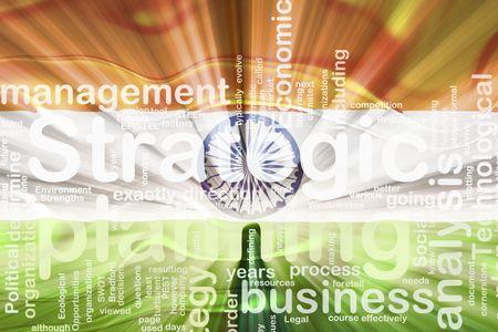 Flag of India, national country symbol illustration wavy business strategic planning Stock Illustration - 6646385