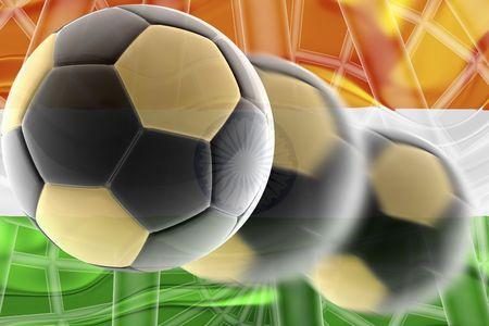 Flag of India, national country symbol illustration wavy sports soccer football Stock Illustration - 6646448