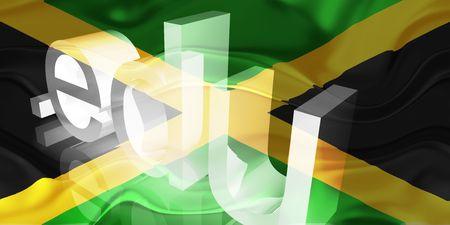 edu: Flag of Jamaica, national country symbol illustration wavy edu education website Stock Photo