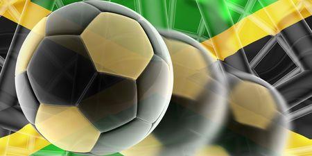 Flag of Jamaica, national country symbol illustration wavy sports soccer football Stock Illustration - 6649280