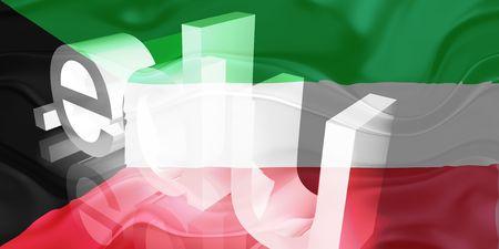 edu: Flag of Kuwait, national country symbol illustration wavy edu education website