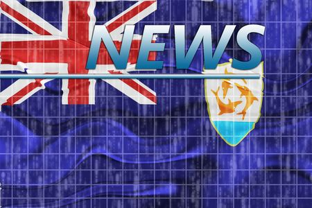newsflash: News information splash Flag of Anguilla , national country symbol illustration wavy
