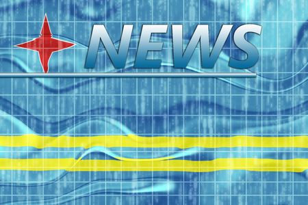 breaking wave: News information splash Flag of Aruba, national country symbol illustration wavy
