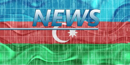 breaking wave: News information splash Flag of Azerbaijan, national country symbol illustration wavy