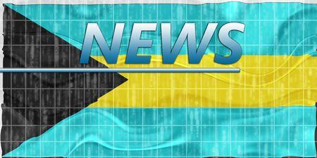 News information splash Flag of Bahamas, national country symbol illustration wavy