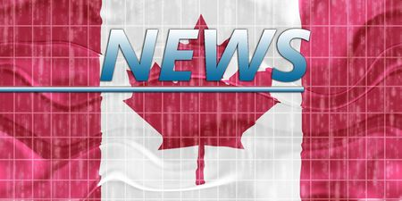 breaking wave: News information splash Flag of Canada, national country symbol illustration wavy Stock Photo
