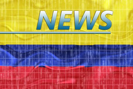 newsflash: News information splash Flag of Colombia, national country symbol illustration wavy