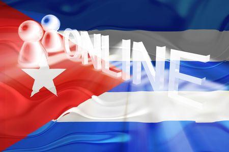 Flag of Cuba, national symbol illustration clipart wavy internet online website illustration