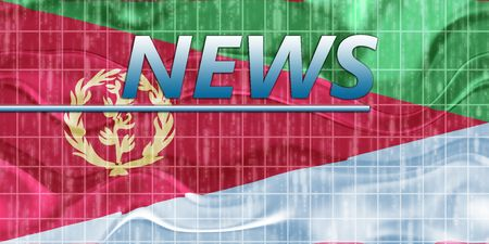 newsflash: News information splash Flag of Eritrea, national country symbol illustration wavy
