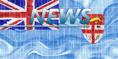 News information splash Flag of Fiji, national country symbol illustration wavy illustration