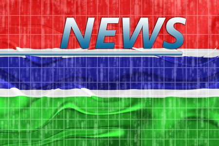 breaking wave: News information splash Flag of Gambia, national country symbol illustration wavy