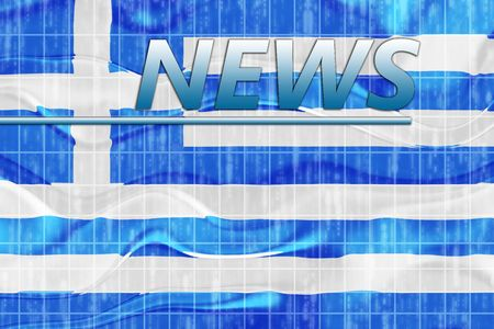 News information splash Flag of Greece, national country symbol illustration wavy Stock Illustration - 6706377