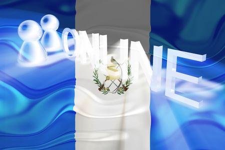 Flag of Guatemala, national country symbol illustration wavy internet online website illustration