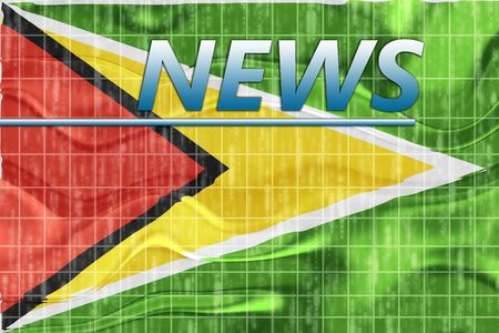 News information splash Flag of Guyana, national country symbol illustration wavy Stock Illustration - 6706571