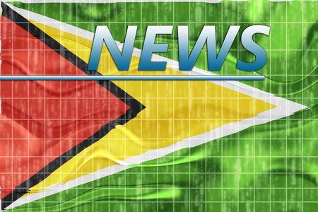 breaking wave: News information splash Flag of Guyana, national country symbol illustration wavy